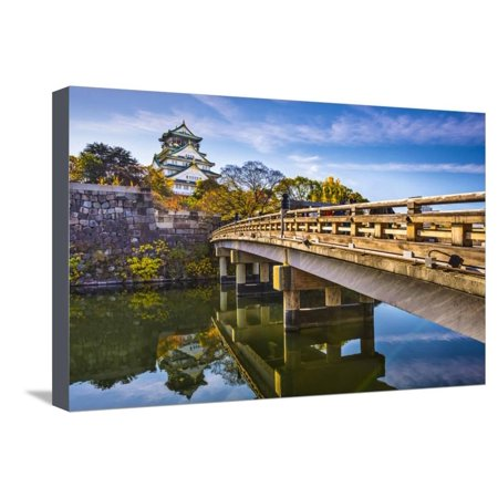 Osaka Castle in Japan. Stretched Canvas Print Wall Art By SeanPavonePhoto