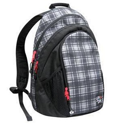 Railcar Backpack - Grey Plaid