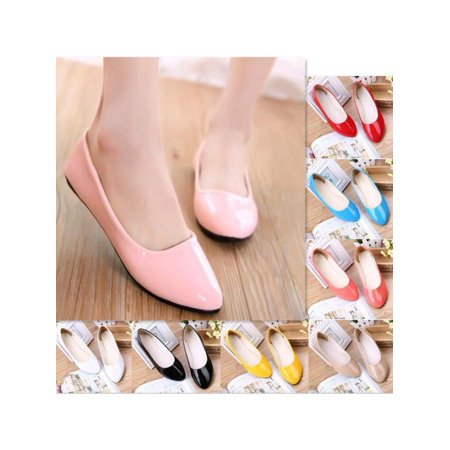 Meigar Women Casual Shoes  Ladies Flat Pumps  Ballerina Slip On Dolly Ballet Shoes Slipper Size 8 - Disney Snow White Shoes