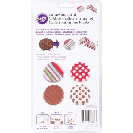 Wilton Dot/Stripe Cookie Candy Mold (2115-0006) Wilton Cookie Molds
