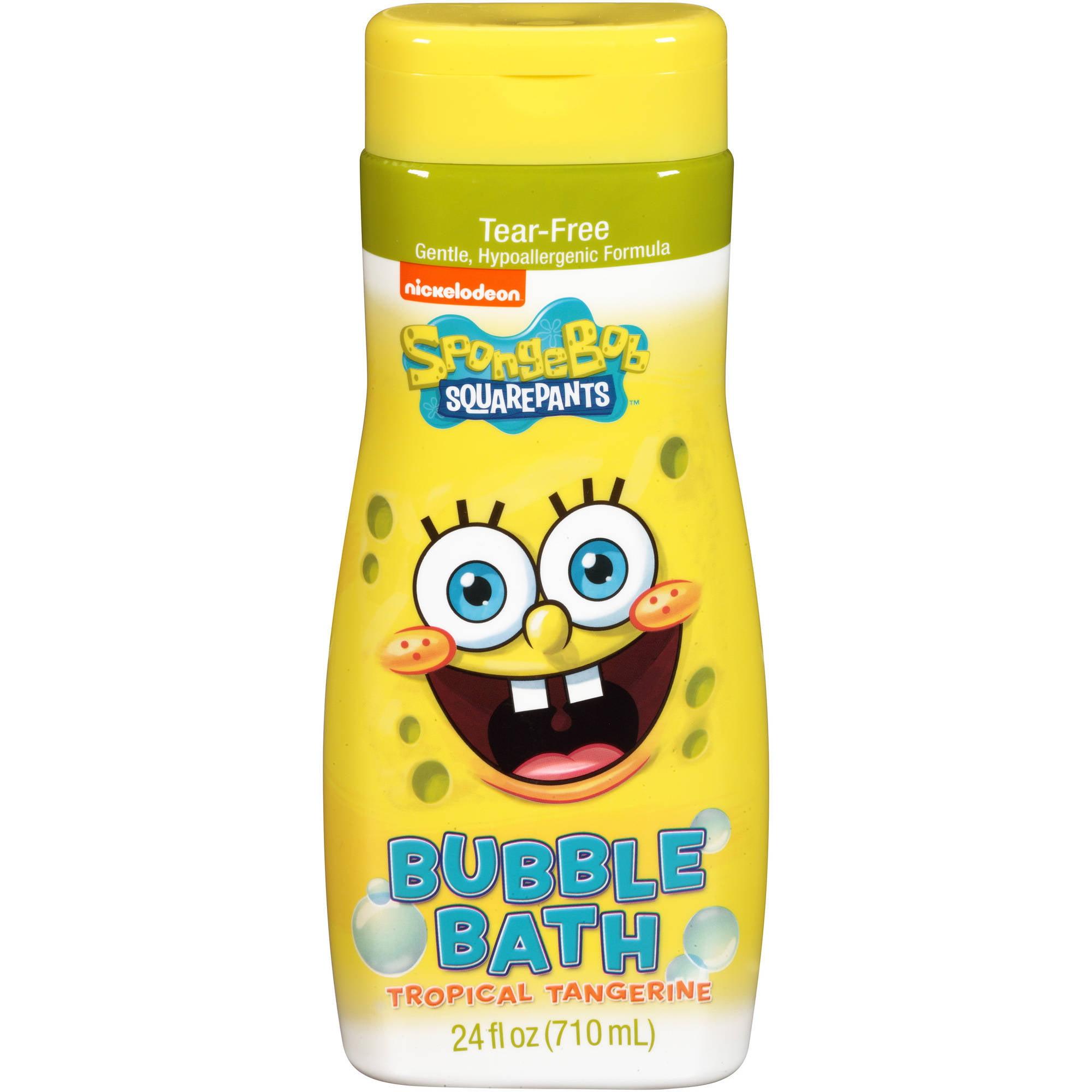 Spongebob squarepants bathroom accessories - Nickelodeon Spongebob Squarepants Tropical Tangerine Bubble Bath 24 Fl Oz Walmart Com