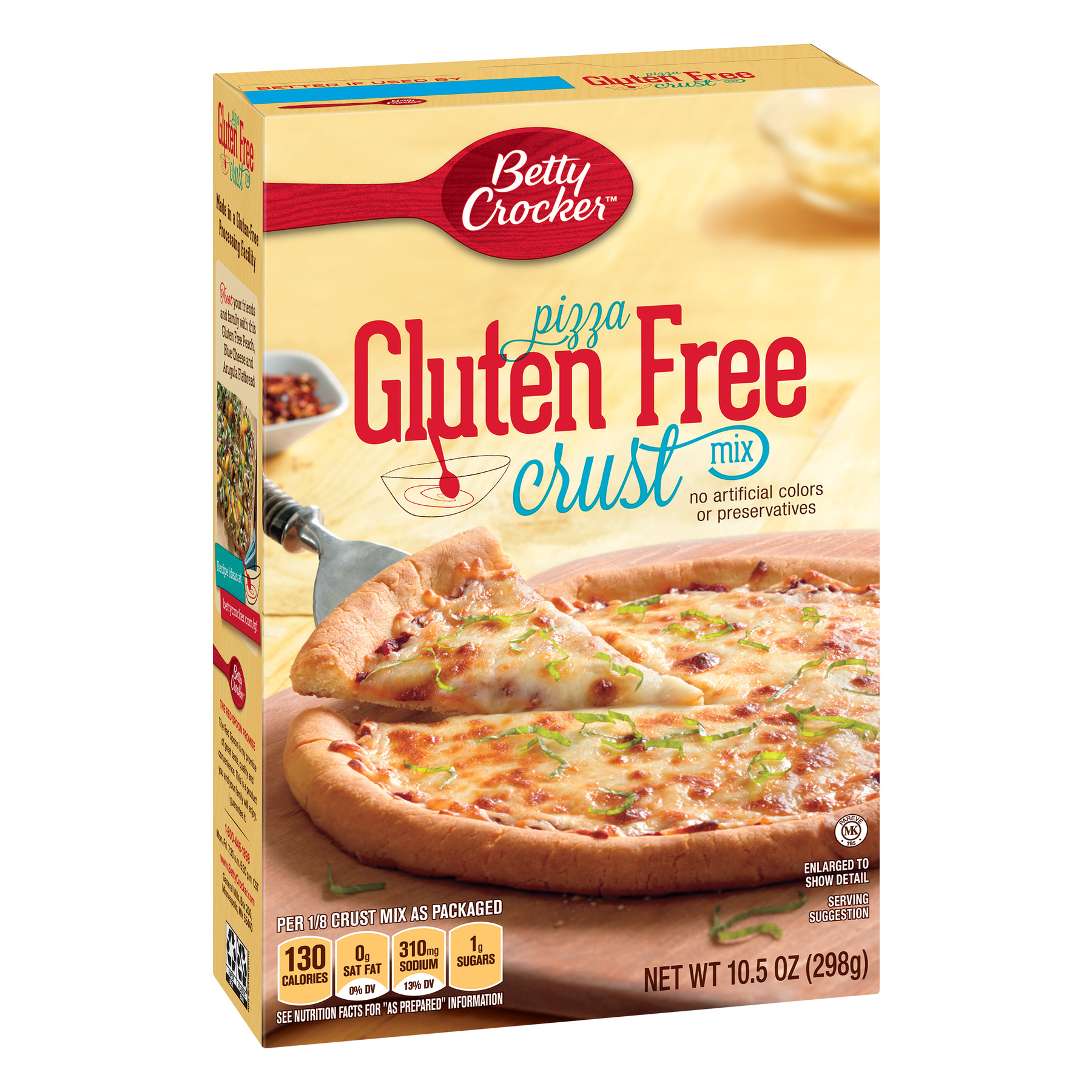 Betty Crocker Gluten Free Pizza Crust Mix, 10.5 oz
