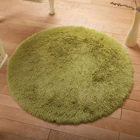 NK HOME Luxury Round Area Rugs Super Soft Living Room Bedroom Carpet Children Playing Mat Diameter - Grey Werewolf Feet