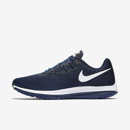 fadb924afa7 Nike - Nike ZOOM WINFLO 4 Mens Blue Athletic Running Shoes - Walmart.com