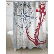 Thumbprintz Anchors Away White Shower Curtain