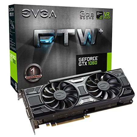 EVGA GeForce GTX 1060 3GB FTW+ GAMING ACX 3.0, 3GB GDDR5, LED, DX12 OSD Support (PXOC) Graphics Cards 03G-P4-6367-KR - E.v.a Halloween