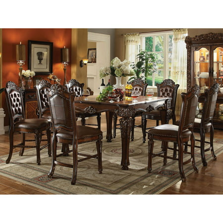 Acme Furniture Vendome 9 Piece Square Counter Height Dining Table (Acme Furniture Set Table)