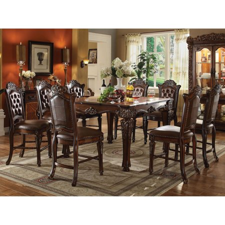 Acme Furniture Vendome 9 Piece Square Counter Height Dining Table Set ()