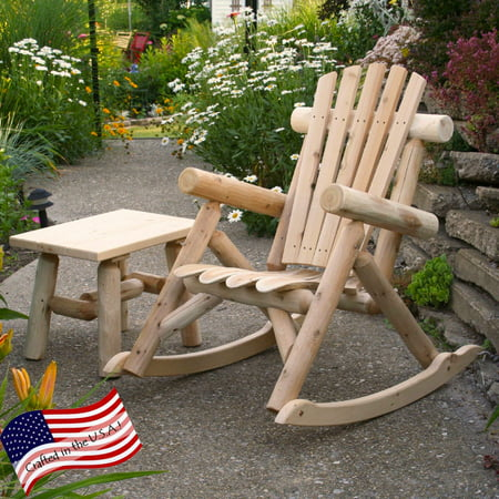 Cedar Log Rocking Chair