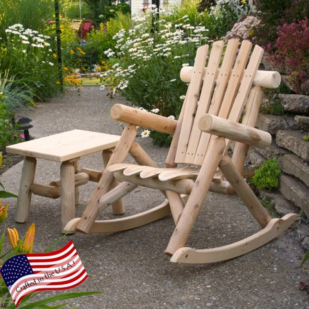 Cedar Log Rocking Chair (Log Style Glider)