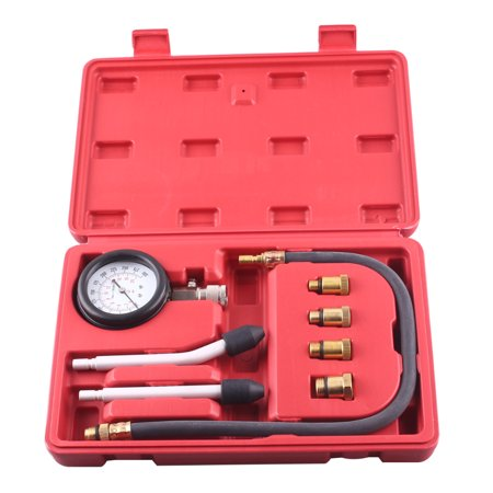 Engine Compression Gauge (GZYF Multi-function Automotive Compression Gauge Test Set for Engine Cylinders Diagnostic Tester Gauge Tool Kit 0-300psi)