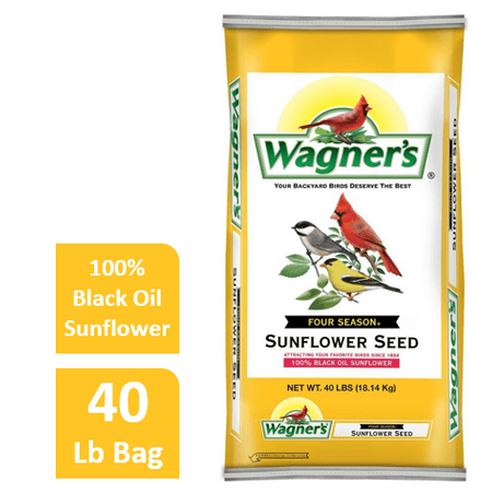 40 LB Wagner's Four Season Sunflower Wild Bird Food