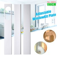 """3PCS Adjustable 190CM/75"""" Window Slide Kit Conditioner Plate Spare Parts For Portable Air Conditioner"""