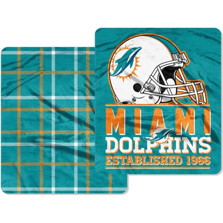 Miami Dolphins The Northwest Company Home Field Cloud 60'' x 70'' Double-Sided Plush Throw Blanket