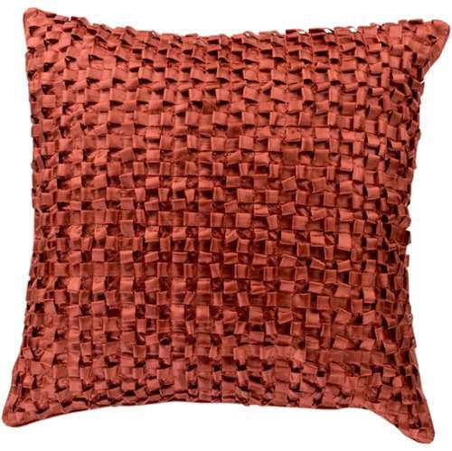 Red Clay Ribbon Pillow BB044