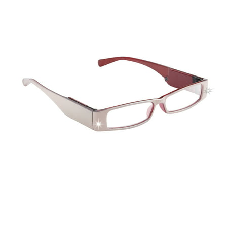 LightSpecs LightPipe Reading Glasses with LED Lights, Betsy +1.50 Power - Glasses With Led