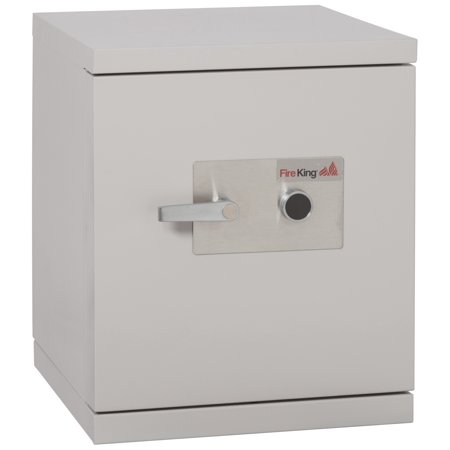 Fireking Fireproof Ds1513 1Lg Office Industrial Platinum Finish Ul Class 125 One Hour Data Fire Safe 1 3 Cu Ft Capacity With High Security Keylock