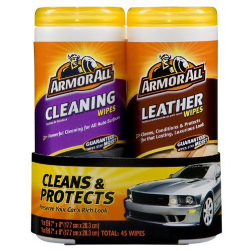 Armor All Leather/Clean Wipes, 2-Pack