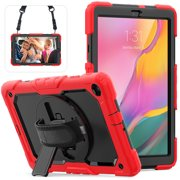 For Samsung Galaxy Tab A 10.1 T510 T515 Case Tablet Back Case Build-in Kickstand PC + Silicone Cover Drop Protection Shell