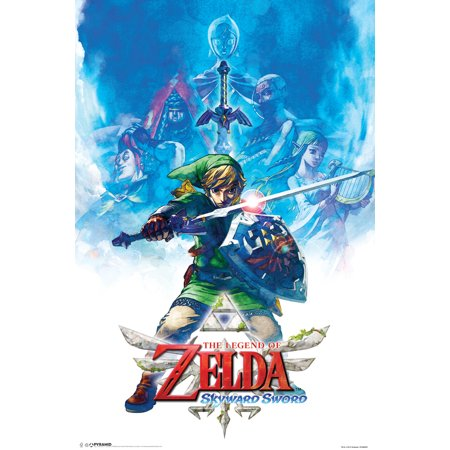 Zelda Skyward Sword Drawing Poster   12X18