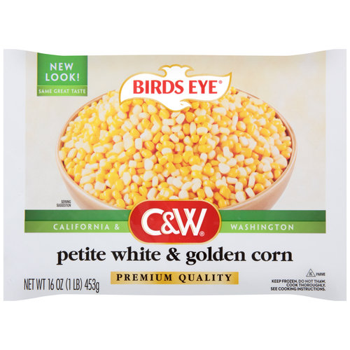 Birds Eye C&W Petite White & Golden Corn, 16 oz