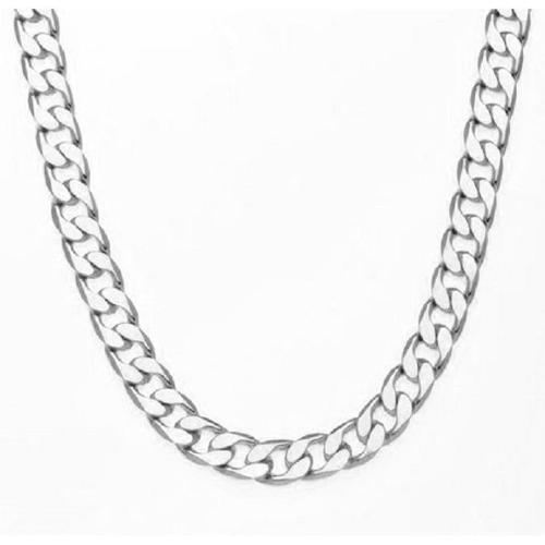Simon Frank 14k Yellow Gold Overlay 12mm Cuban Necklace (20-inch) Silver Overlay
