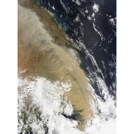 A wall of dust stretched from northern Queensland to the southern tip of eastern Australia Poster