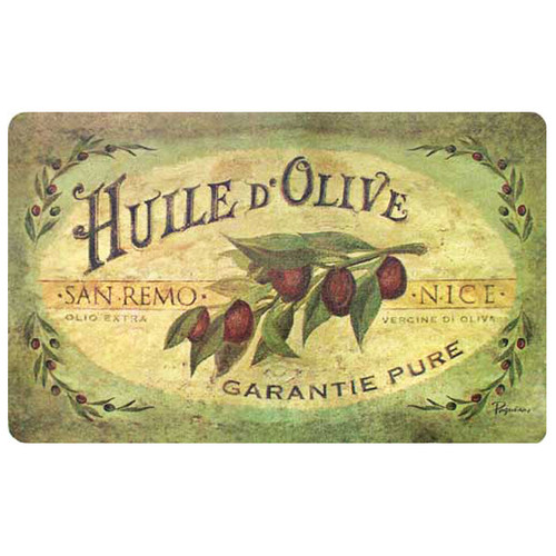 BuyMATS Inc. Cushion Comfort Vintage Olive Oil Kitchen Mat