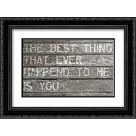The Best Thing 2x Matted 24x18 Black Ornate Framed Art Print by Niele,