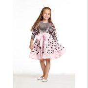 Girls Pink Angelina Bow Polka Dots Jacket Dress 8