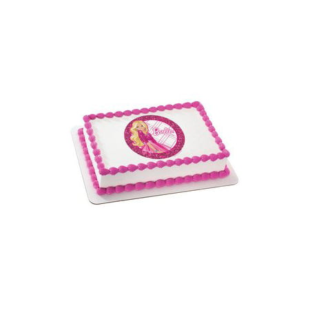Barbie All Dolled Up Personalized Edible Cake Image Topper ()