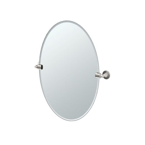 """Gatco 4859 Max 23-1 2"""" Oval Beveled Wall Mounted Mirror with Satin Nickel Accents by Gatco"""