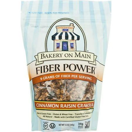 Bakery On Main Fiber Power Granola Gluten Free Cinnamon Raisin    12 Oz   2 Pc