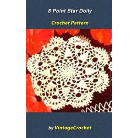8 Point Star Doily Vintage Crochet Pattern eBook - - 8 Point Star