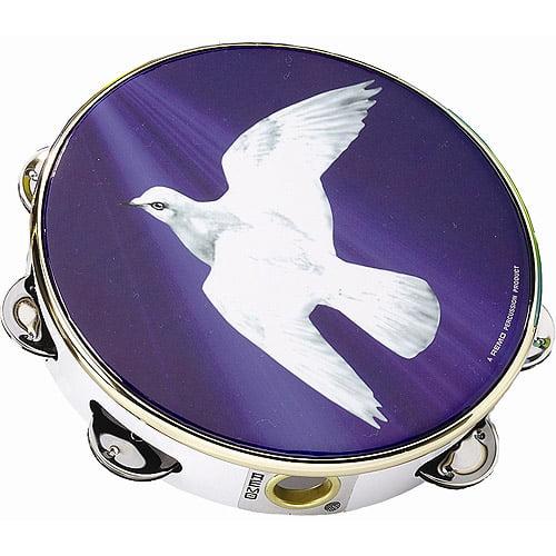 """Remo Tambourine, 10"""" - Religious Dove"""