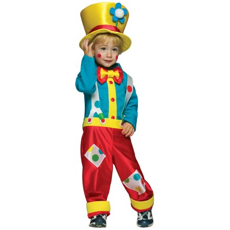 Clown Boy Child Halloween Costume, One Size, (3T-4T)