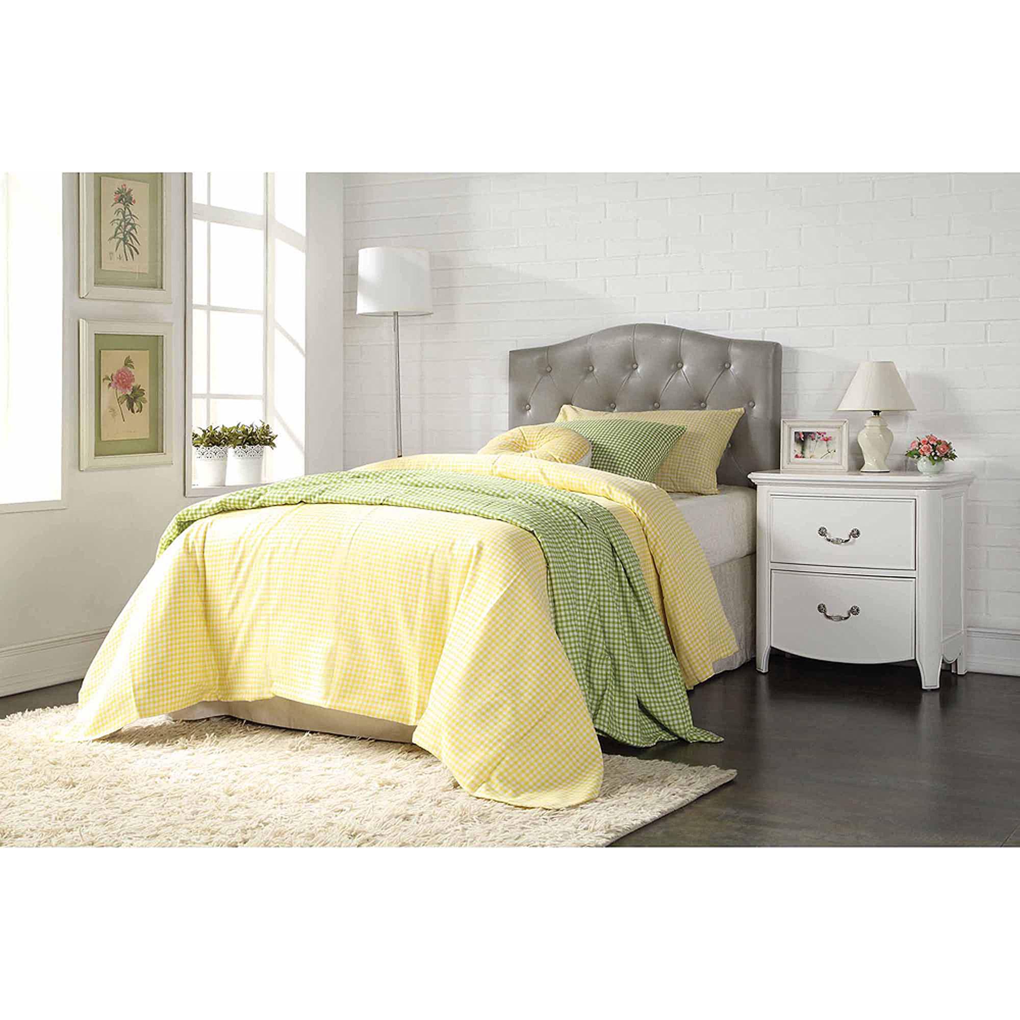 ACME Furniture Viola Gray PU Queen/Full Headboard