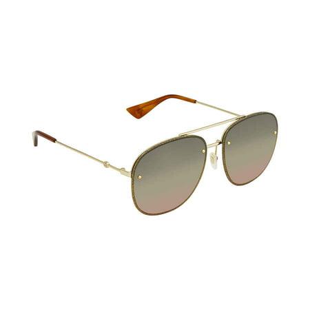 Gucci Multicolor Aviator Ladies Sunglasses GG0227S 004 62