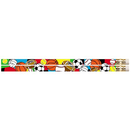 SUPER SPORTS 12PK MOTIVATIONAL FUN - Super Homework Pencil