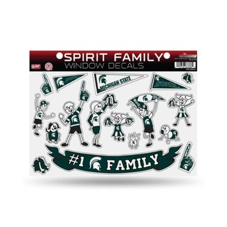 Michigan State Spartans Official NCAA 11 inch x 11 inch Large Family Car Decal Sheet by Rico