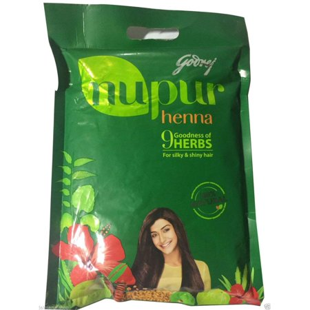 Nupur Henna Powder 100% Pure for Silky & Shiny Hair- 400g X Pack of 2, Brand New Genuine Godrej Product in Export Packaging. By