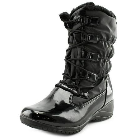 Audrey Leather - Khombu Audrey Women  Round Toe Patent Leather Black Winter Boot