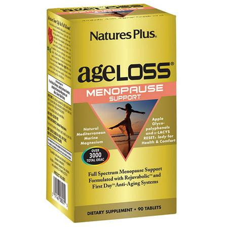 Natures Plus. AgeLoss ménopause support 90 comprimés. Sans gluten. Végétarien.