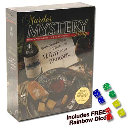 Murder Mystery Party - A Taste for Wine and Murder Plus FREE Rainbow Dice, A mystery dinner party game for 6 to 8 players. By University