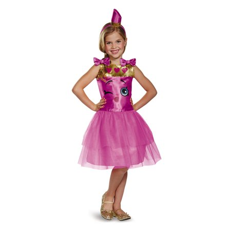 Lippy Lips Shopkins Girls Costume 98807 - Small (4-6X) - Lips Costume