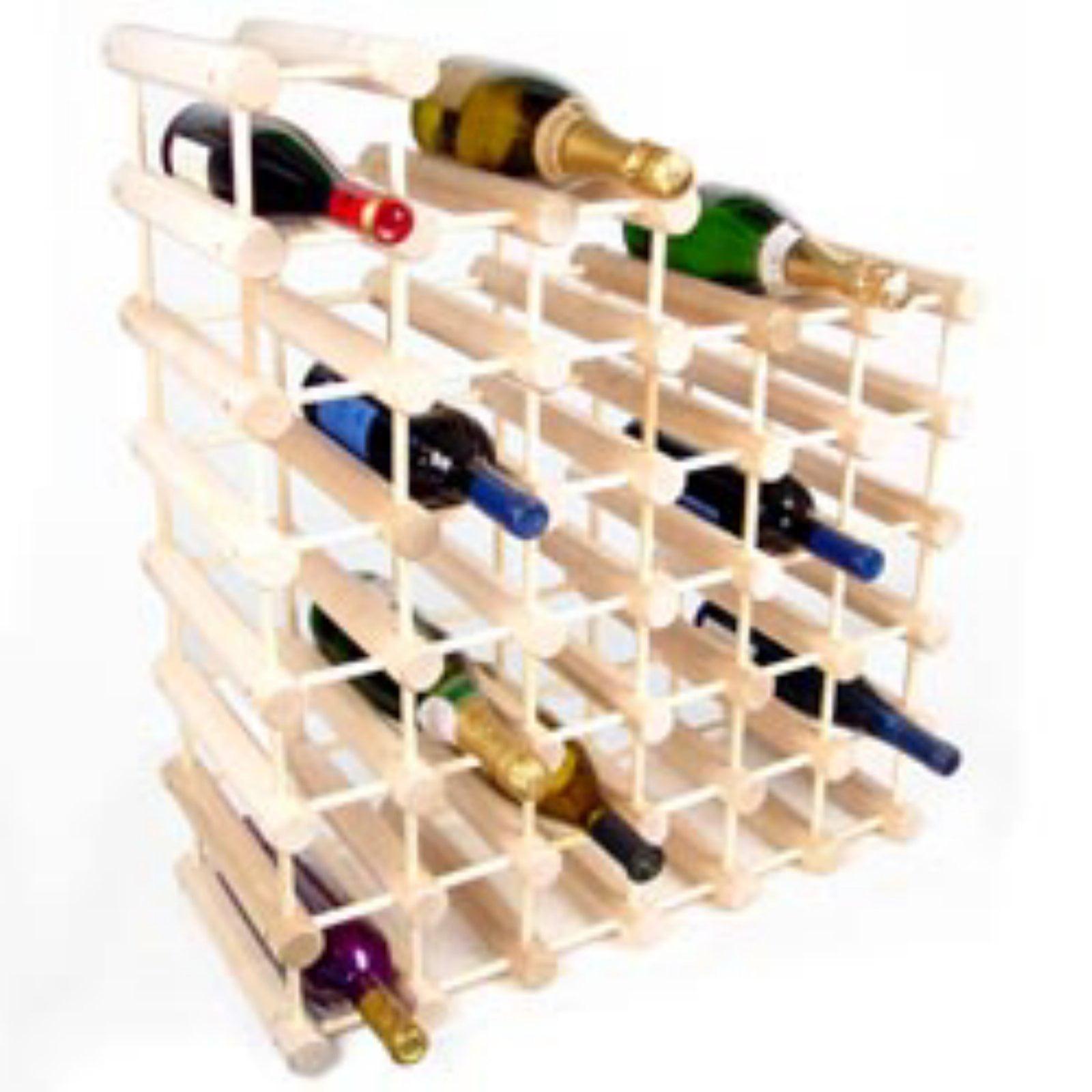 Wooden Octagonal Wine Rack - 12 or 40 Bottles