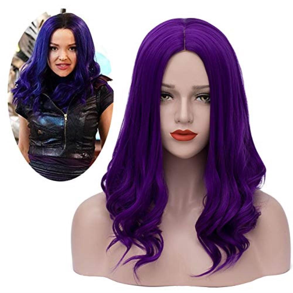 mersi mal wig cosplay costume long purple wigs halloween ...