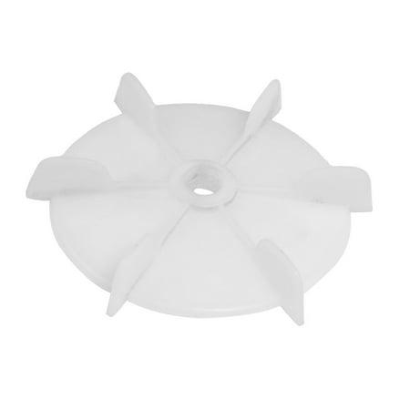 Spare Part 21mm Inner Diameter 6 Vanes Impeller Plastic Motor Fan Vane Wheel