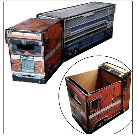 Actionpacker Storage (Boxes In Action - OPTIMUS PRIME Toy Bin Storage Box Set - TRANSFORMERS )