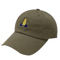 Product Image City Hunter C104 Pray Emoji Cotton Baseball Cap Dad Hats 15  Colors (Olive) b8a259618ea4